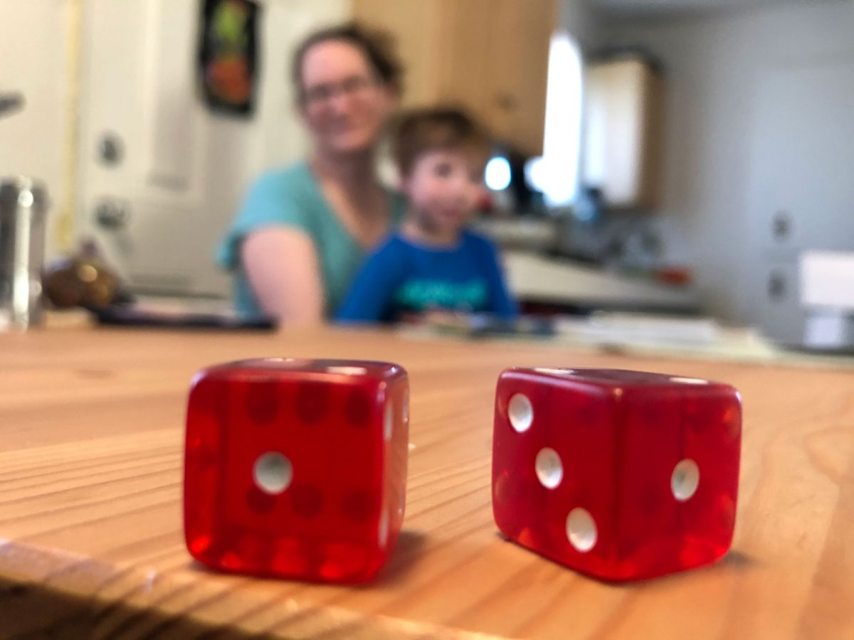 A Simple Dice Game for Adding and Subtracting